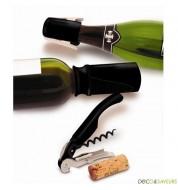 Set vin et champagne Pulltex - 3 pièces (noir)