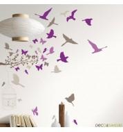 Sticker mural oiseaux FIDJI