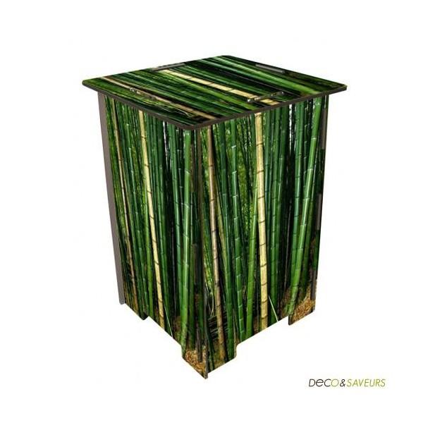tabouret de bar • Tabouret en bois imprimé Bambou Werkhaus