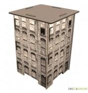 Tabouret en bois imprimé building Werkhaus