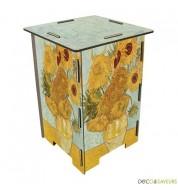 Tabouret en bois imprimé Van Gogh Werkhaus