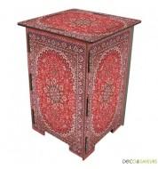 Tabouret en bois imprimé Werkhaus tapis persan