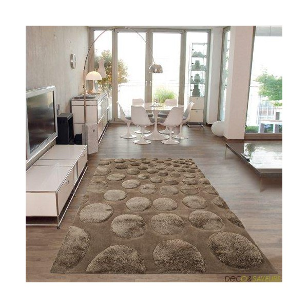 Tapis salon arte espina cocoon taupe deco et for Tapis salon but