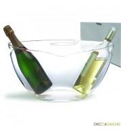 Vasque à champagne transparente Pulltex