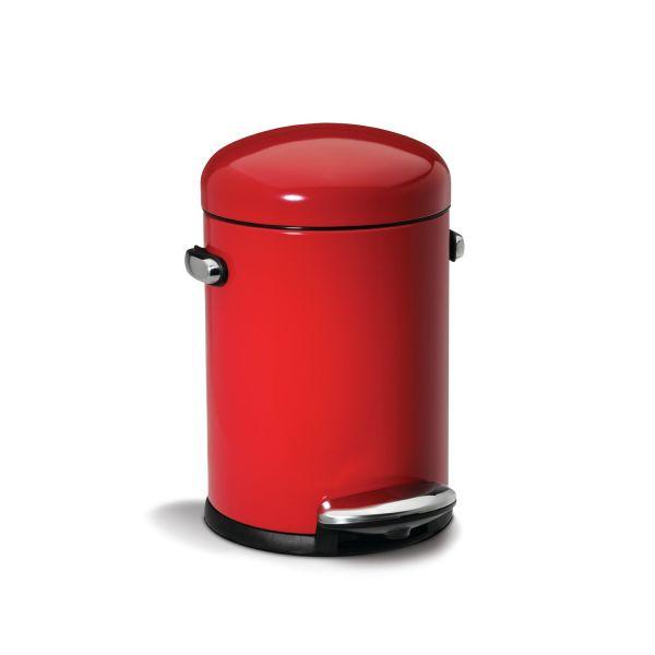 Poubelle salle de bain rouge accessoire salle de bain - Poubelle de salle de bain design ...