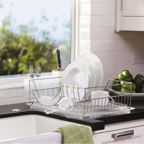Egouttoir vaisselle en inox rangement cuisine for Vaisselle de cuisine