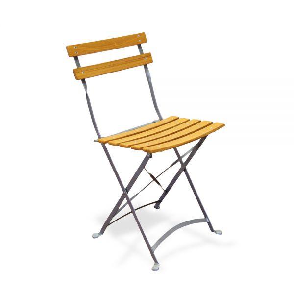 Chaise pliante de jardin lot de 4 grises new jersey bois - Chaise de jardin en bois pliante ...
