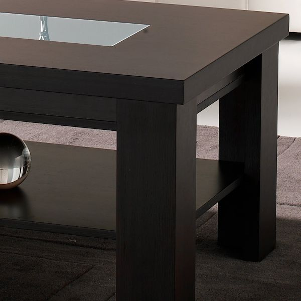 Table basse bois wenge for Table basse relevable wenge