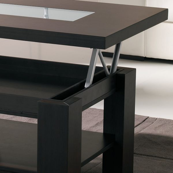 Table basse relevable bois couleur weng meuble et for Table basse relevable wenge