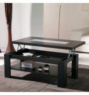 Table basse relevable bois couleur wengé