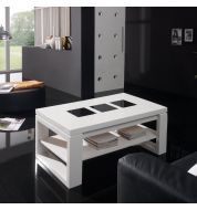 Table basse relevable bois blanche