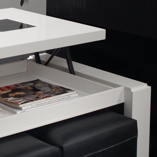 table basse relevable bois blanche deco et saveurs. Black Bedroom Furniture Sets. Home Design Ideas