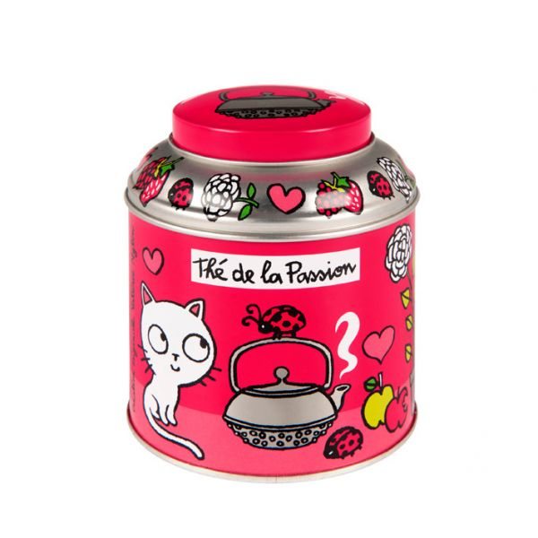 boite à thé derrière la porte (passion rose) - boite metal