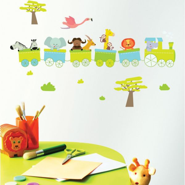 Stickers enfant train stickers chambre enfant for Stickers pour chambre enfant