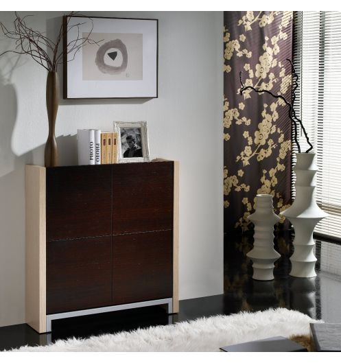 meuble chaussures 4 compartiments wenge entr e. Black Bedroom Furniture Sets. Home Design Ideas