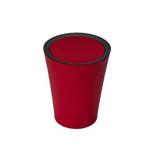 Petite poubelle salle de bain rouge poubelle plastique - Mini poubelle salle de bain ...