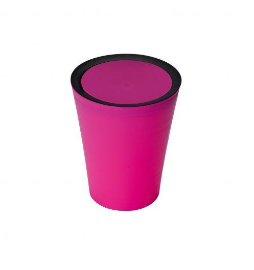 Petite poubelle salle de bain rose poubelle plastique - Petite poubelle de salle de bain ...