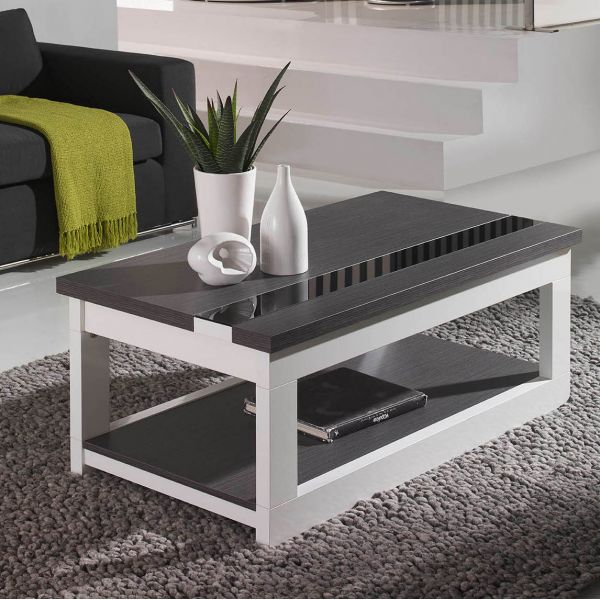 table basse bois gris et metal. Black Bedroom Furniture Sets. Home Design Ideas