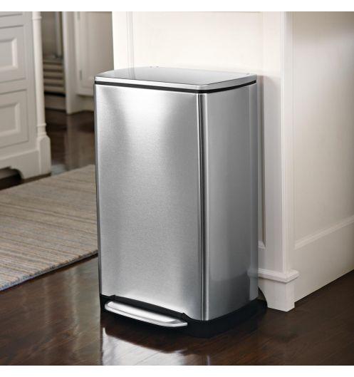 poubelle cuisine acier bross 38 l rangement de la cuisine. Black Bedroom Furniture Sets. Home Design Ideas