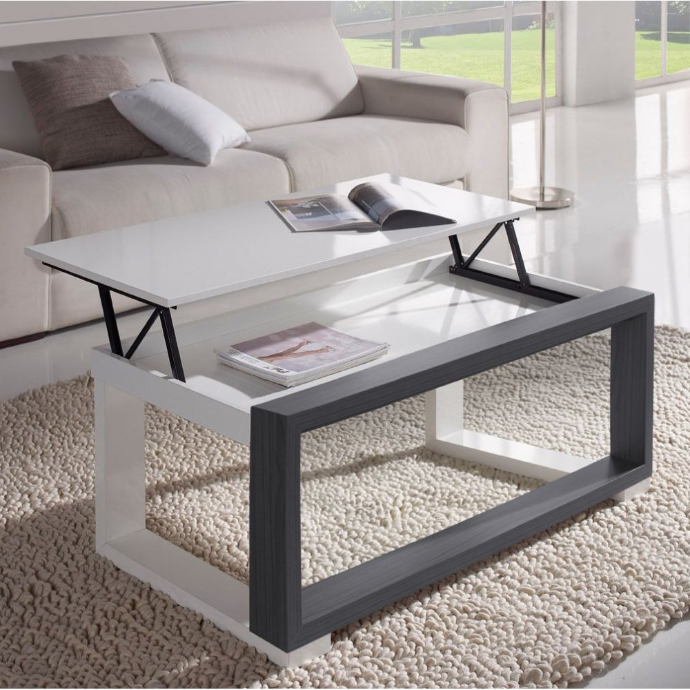 Table basse grise pas cher fabulous nice table basse ikea for Ikea table basse relevable
