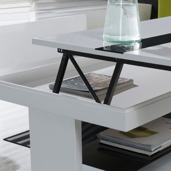 table basse blanche relevable maison design. Black Bedroom Furniture Sets. Home Design Ideas