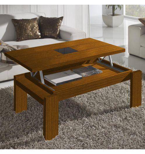table basse relevable bois noyer centre verre d co et saveurs. Black Bedroom Furniture Sets. Home Design Ideas
