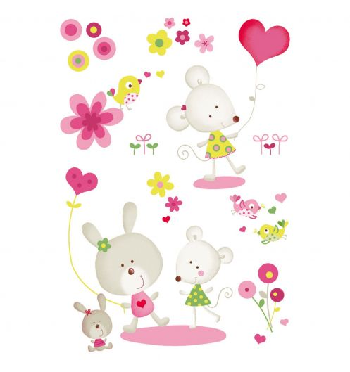 Stickers enfant souris stickers deco b b for Stickers chambre petite fille