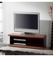 Meuble TV noyer laqué noir