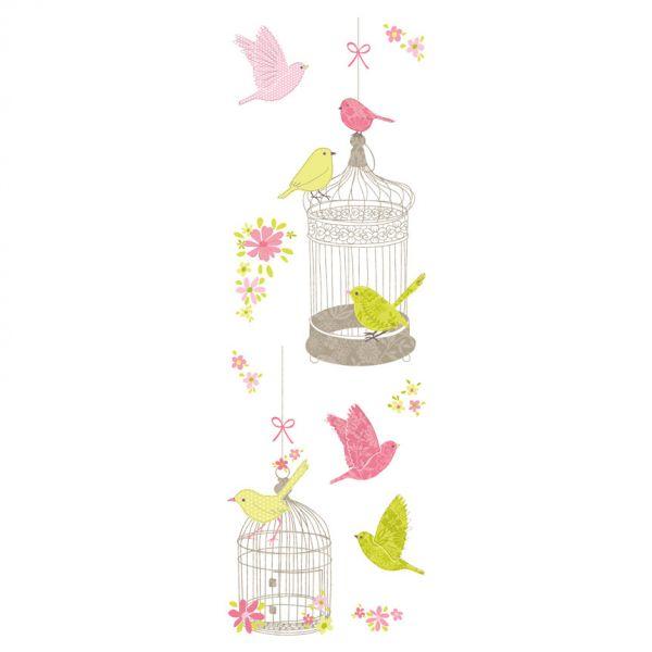 stickers cage oiseaux stickers enfant. Black Bedroom Furniture Sets. Home Design Ideas
