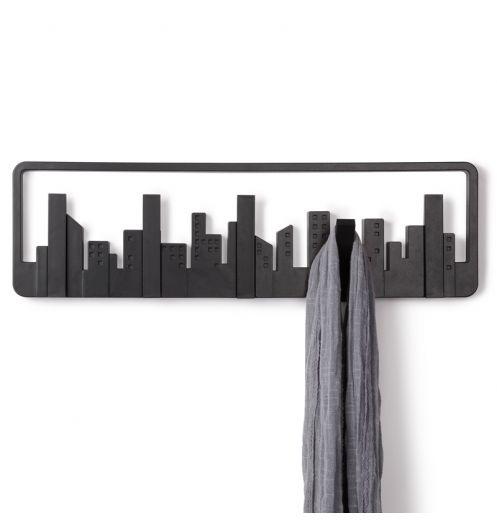 Patère Skyline Noire Umbra Porte Manteau - Porte manteau patere