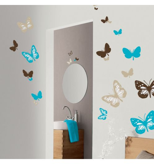 stickers papillons summer stickers mural. Black Bedroom Furniture Sets. Home Design Ideas