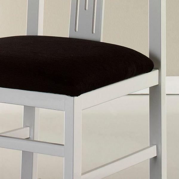 Chaise Blanche Et Bois - Chaise salleà manger en bois blanche (x4)