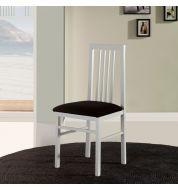 Chaise salle à manger en bois blanche trois bareaux (x4)