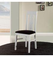 Chaise salle à manger en bois blanche quatro (x4)