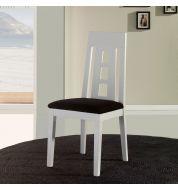 Chaise salle à manger en bois blanche trio (x4)