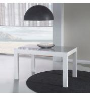 Table à manger extensible blanche (130/180cm)
