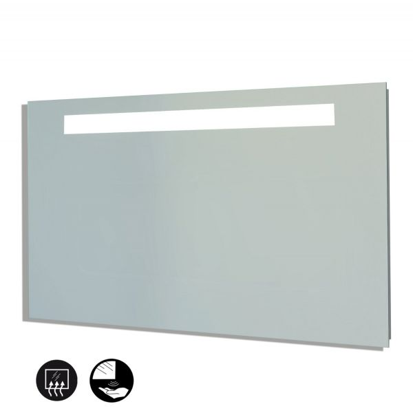 Miroir salle de bain clairage et interrupteur infrarouge - Miroir salle de bain 90 cm ...