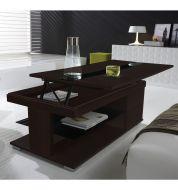 Table basse Relevable Wengé et noir