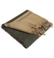 Fouta sable et cendre coton bio Karawan