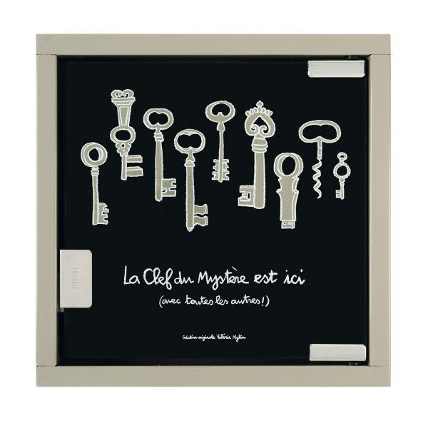 Armoire cl s design boite a clefs derri re la porte for Decoration porte noire
