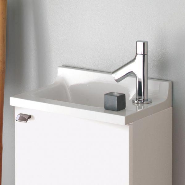lave main et miroir salle de bain sanijura laqu blanc. Black Bedroom Furniture Sets. Home Design Ideas