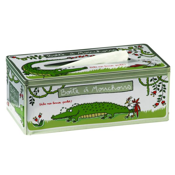 Boite mouchoirs originale crocodile derri re la porte for Decoration derriere la porte