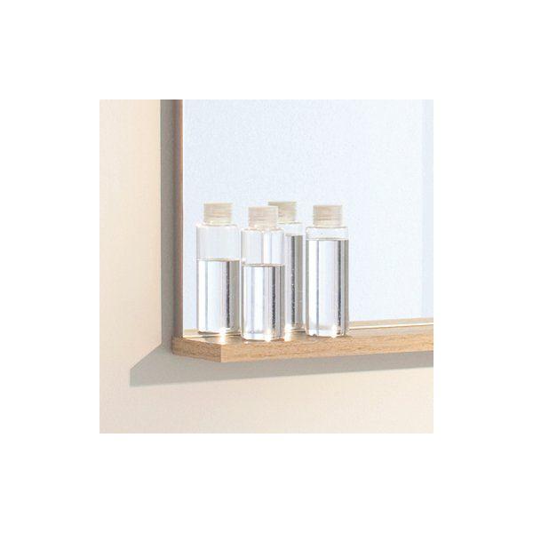 Miroir salle de bain avec tablette pop nature sanijura - Miroir tablette salle de bain ...
