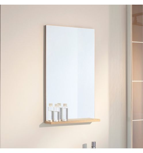 miroir salle de bain avec tablette pop nature sanijura. Black Bedroom Furniture Sets. Home Design Ideas
