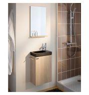 Lave main pierre naturelle et miroir salle de bain Sanijura Sukupira