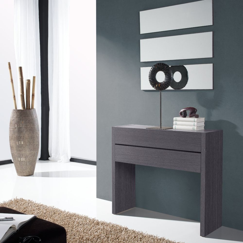 Console De Salon Meuble good console de salon meuble #13: meuble console placage bois gris 2