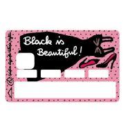 Sticker CB Valérie Nylin Black est beautiful
