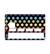 Sticker carte bancaire pois couleurs