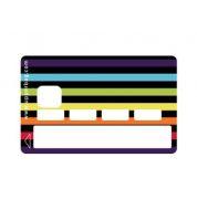 Stickers carte bancaire bayadère