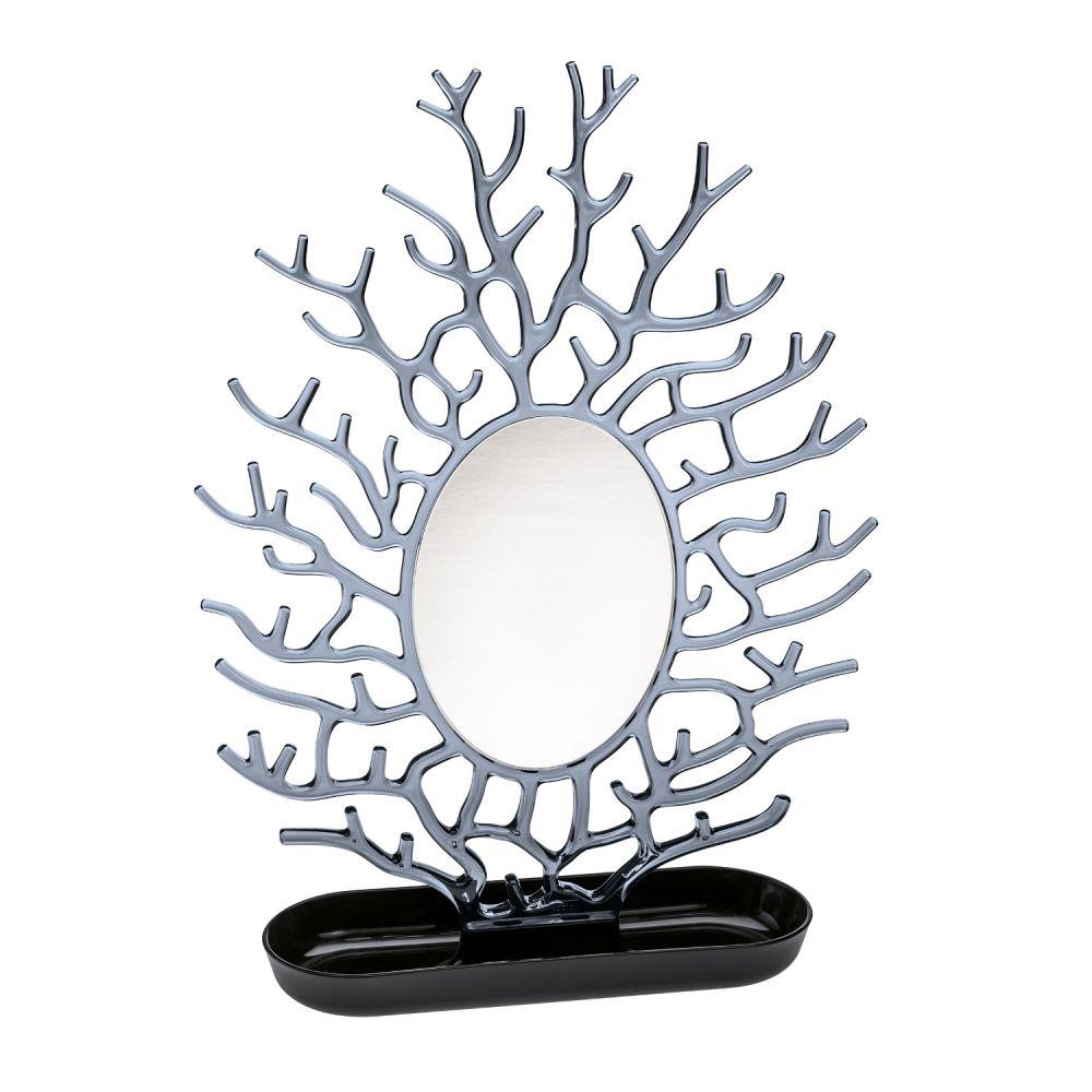 Porte bijoux avec miroir - arebre à bijoux noir Koziol